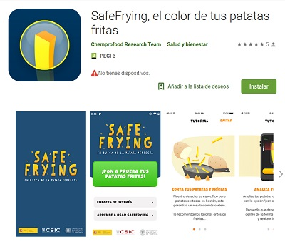 SafeFrying app contra la acrilamida